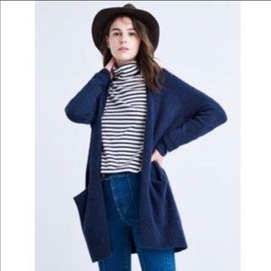 Madewell Small Ryder Open Front Cardigan Blue